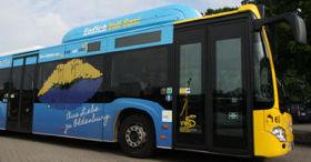Bus der Verkehr und Wasser Oldenburg in Seitenansicht